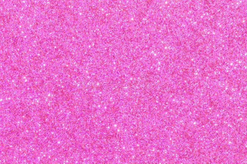 桃红色闪烁纹理背景 免版税库存图片