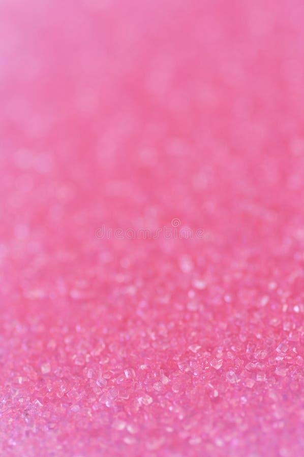 桃红色闪闪发光糖 库存图片
