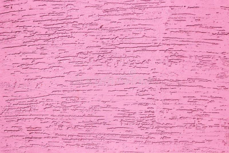 桃红色难看的东西纹理水泥墙壁 r ?? 图库摄影