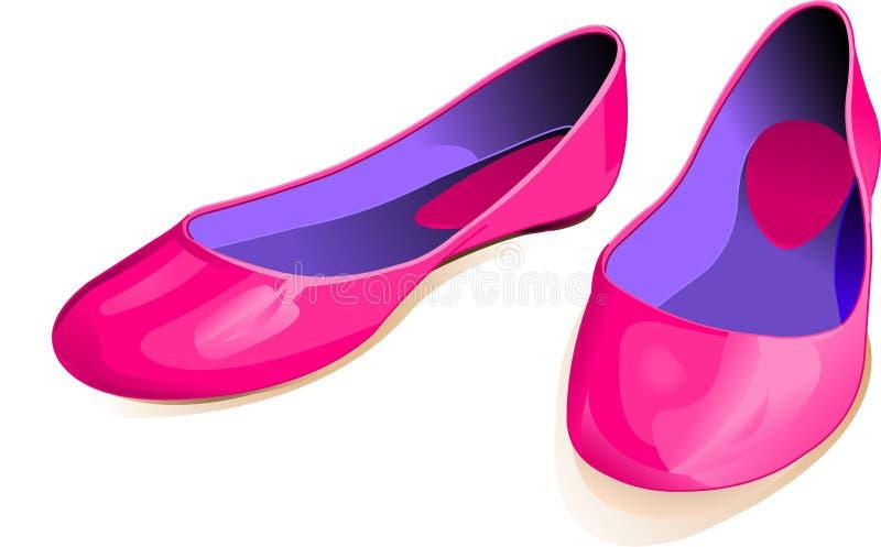桃红色鞋子 库存例证