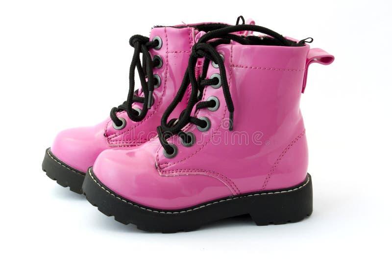 桃红色鞋子 库存照片