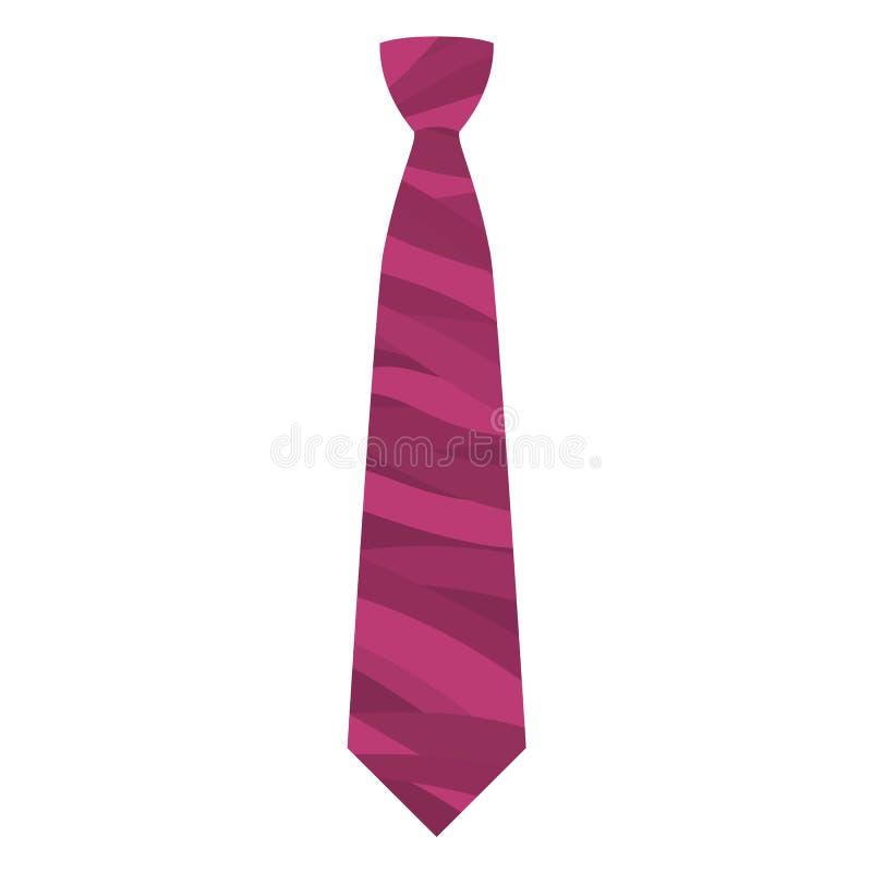 桃红色领带象,平的样式 向量例证