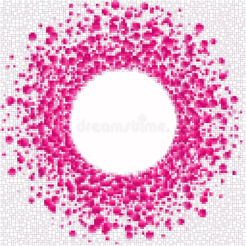 桃红色颜色摆正围绕框架 皇族释放例证