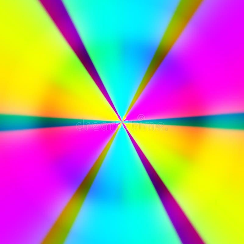 桃红色黄色蓝色辐形光芒abstractgradient背景传染媒介 向量例证