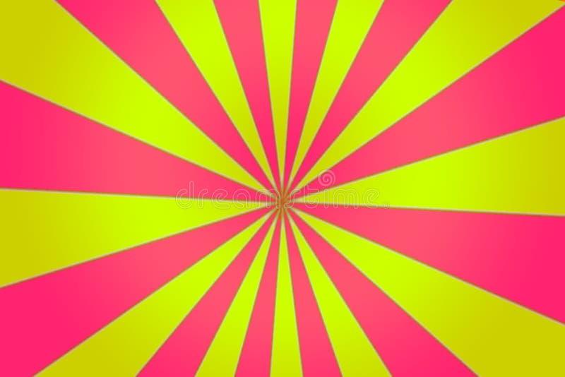 桃红色黄色Pin轮子聚光灯 向量例证