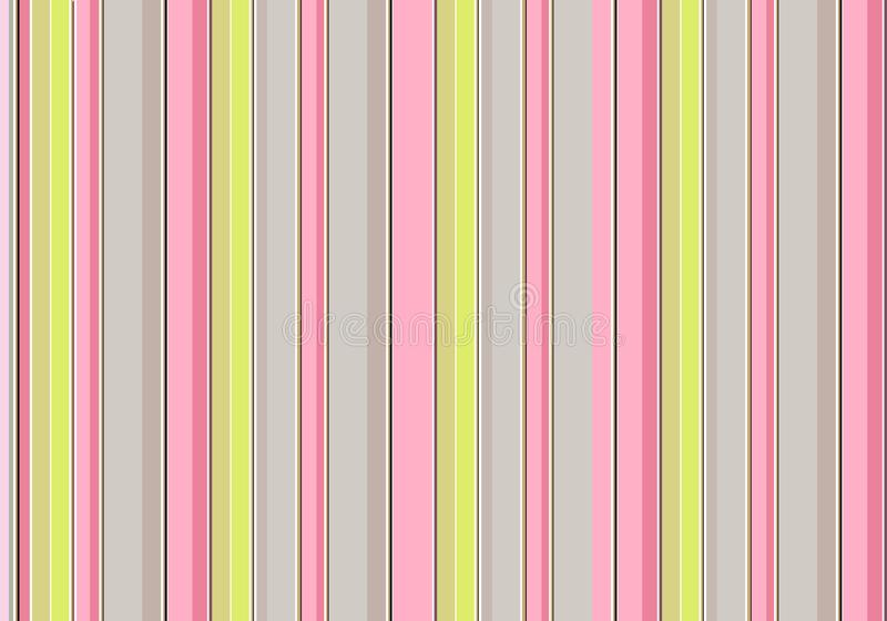 桃红色,绿色和灰色垂直条纹,葡萄酒传染媒介背景 库存照片