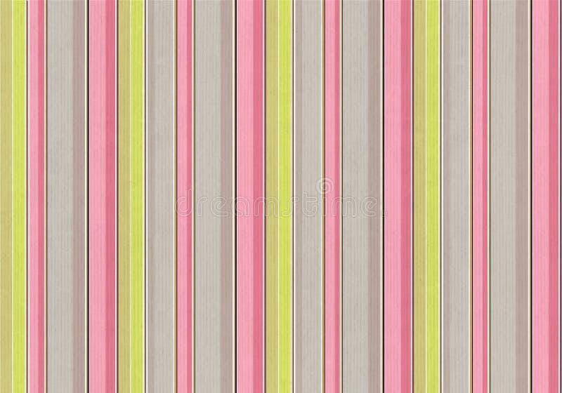 桃红色,绿色和灰色垂直条纹,葡萄酒构造了backgrou 库存图片