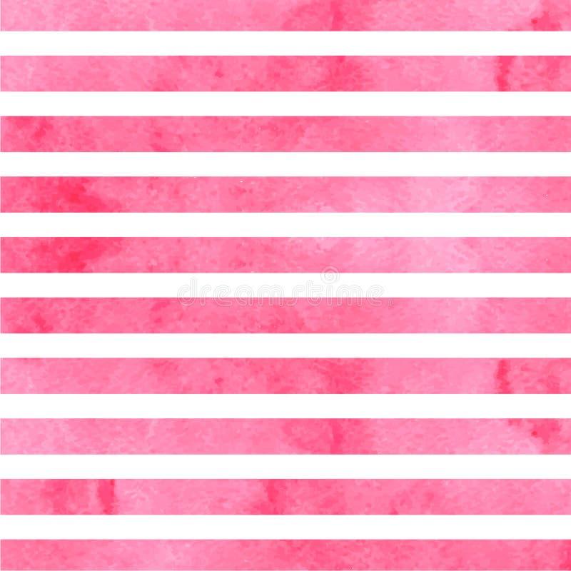 桃红色水平的水彩条纹 也corel凹道例证向量 皇族释放例证