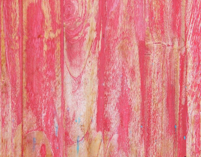桃红色破旧的木背景 免版税库存图片