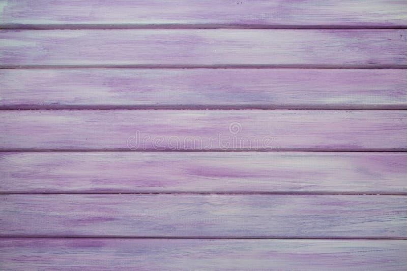 桃红色/紫色真正的木纹理背景 免版税图库摄影