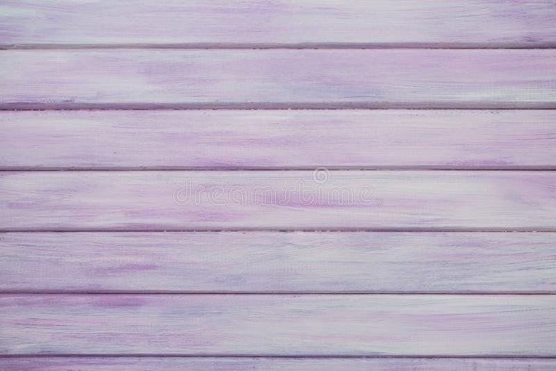 桃红色/紫色真正的木纹理背景 免版税库存照片