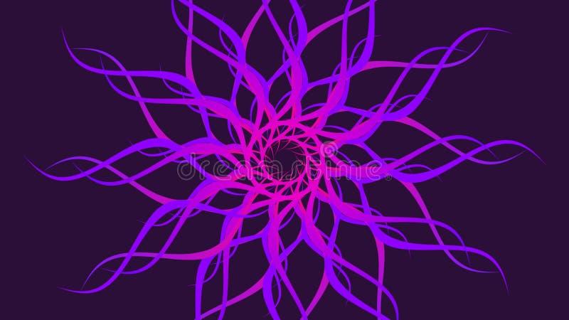 桃红色&紫色转动的被仿造的五颜六色的螺旋,摘要挥动背景 向量例证