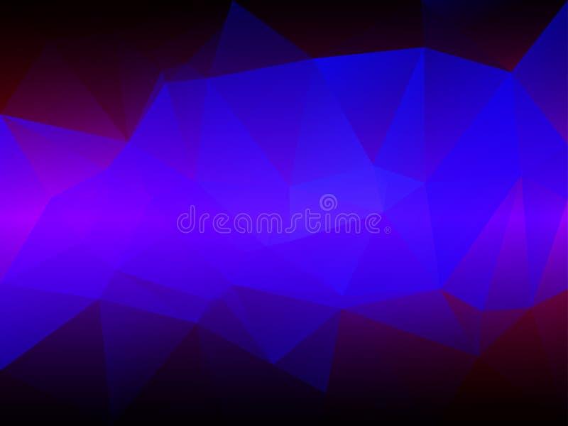 桃红色紫色蓝色低多背景 向量例证
