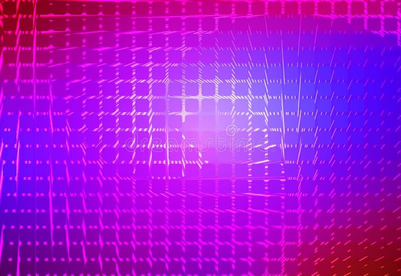 桃红色紫色蓝色螺旋被环绕的马赛克背景 皇族释放例证