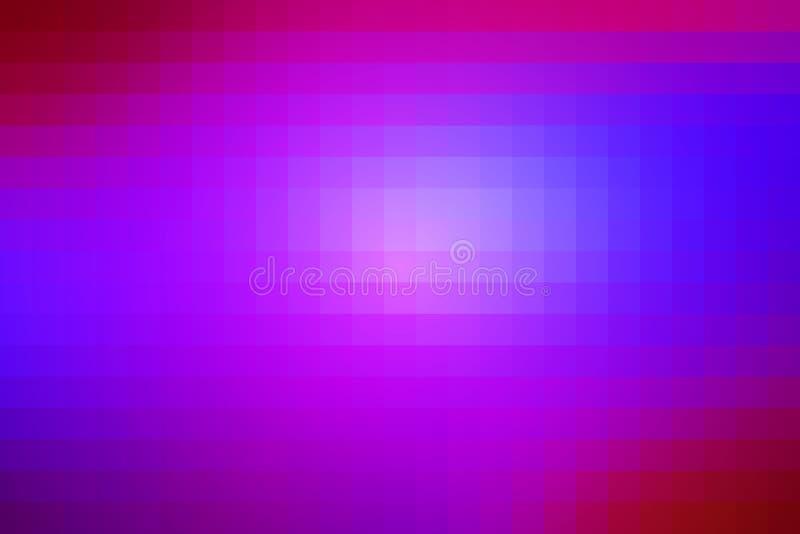 桃红色紫色蓝色马赛克正方形铺磁砖背景 皇族释放例证