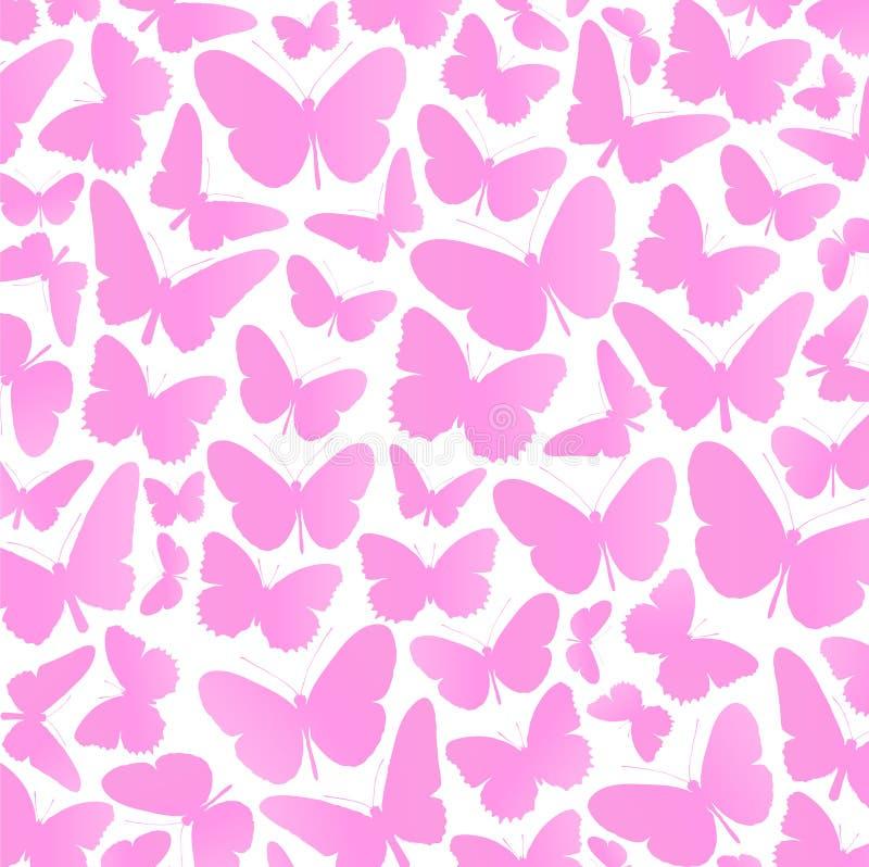 桃红色蝴蝶背景传染媒介 库存例证