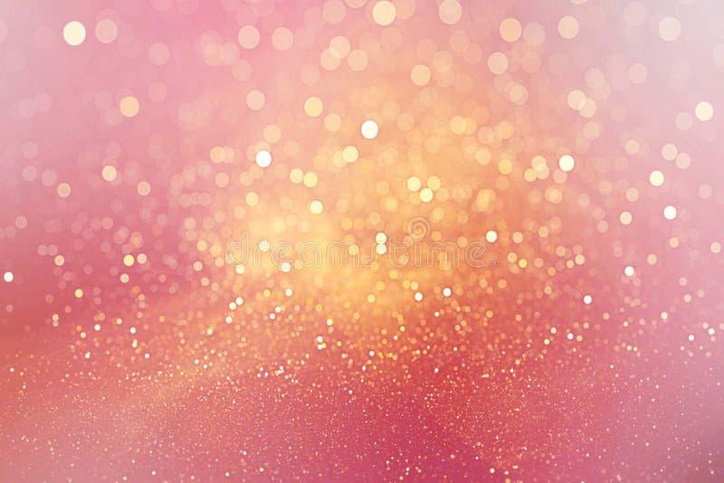 桃红色defocused背景与bokeh作用魅力假日圣诞节情人节 库存图片
