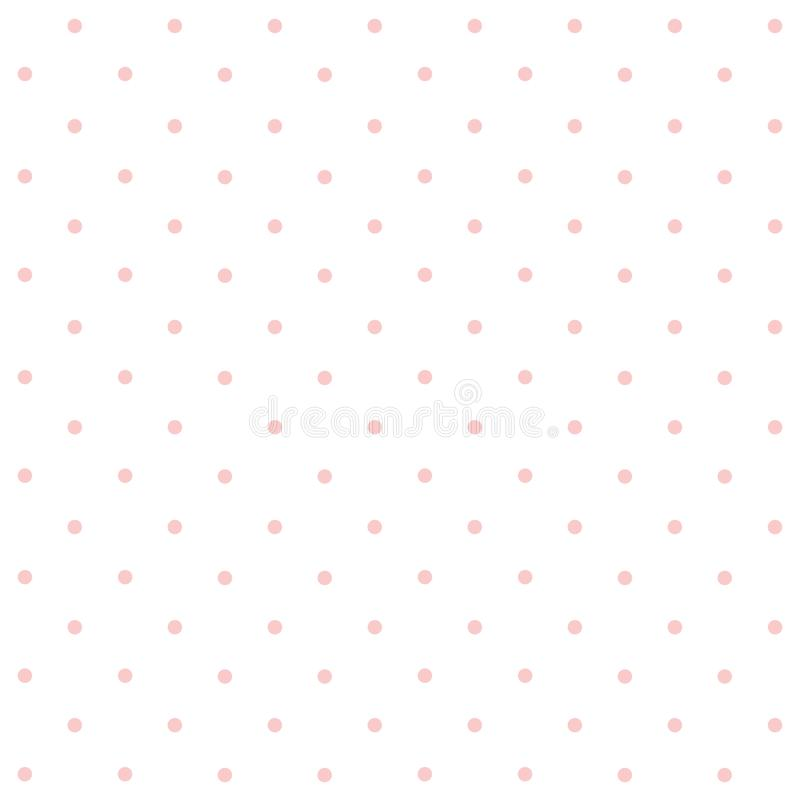 桃红色Polkadots有白色重复样式背景 免版税库存照片