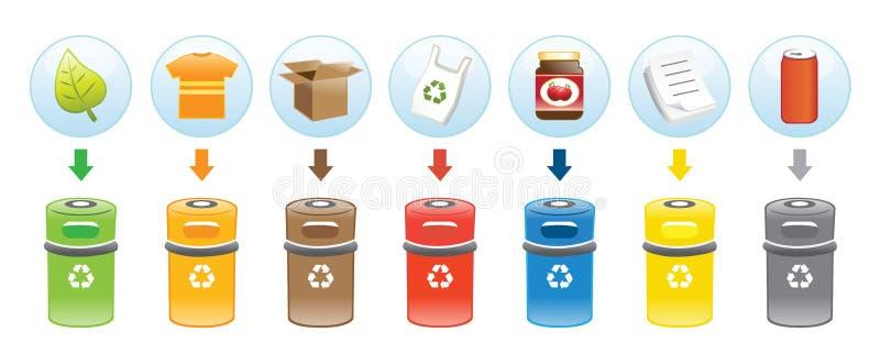 框回收 库存例证