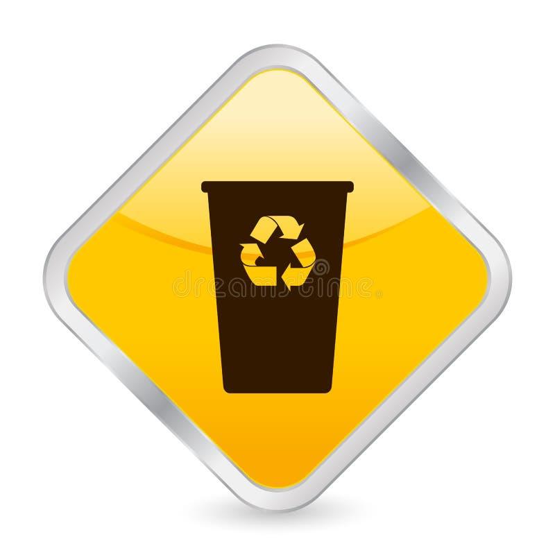 框图标回收方形黄色 向量例证