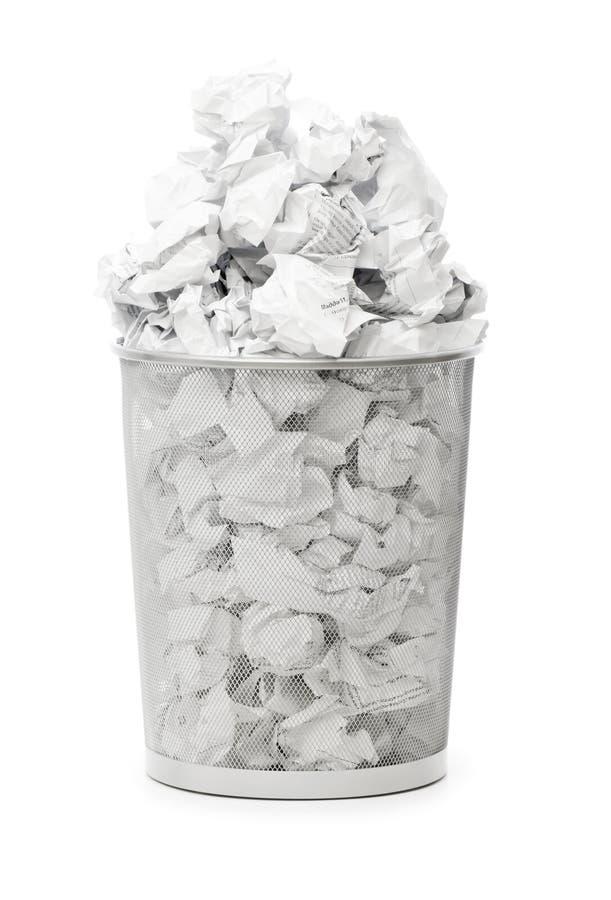 框垃圾查出的纸张浪费 库存照片
