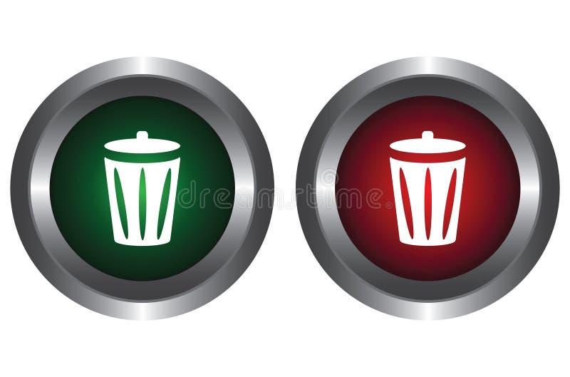 框按钮回收二 库存例证