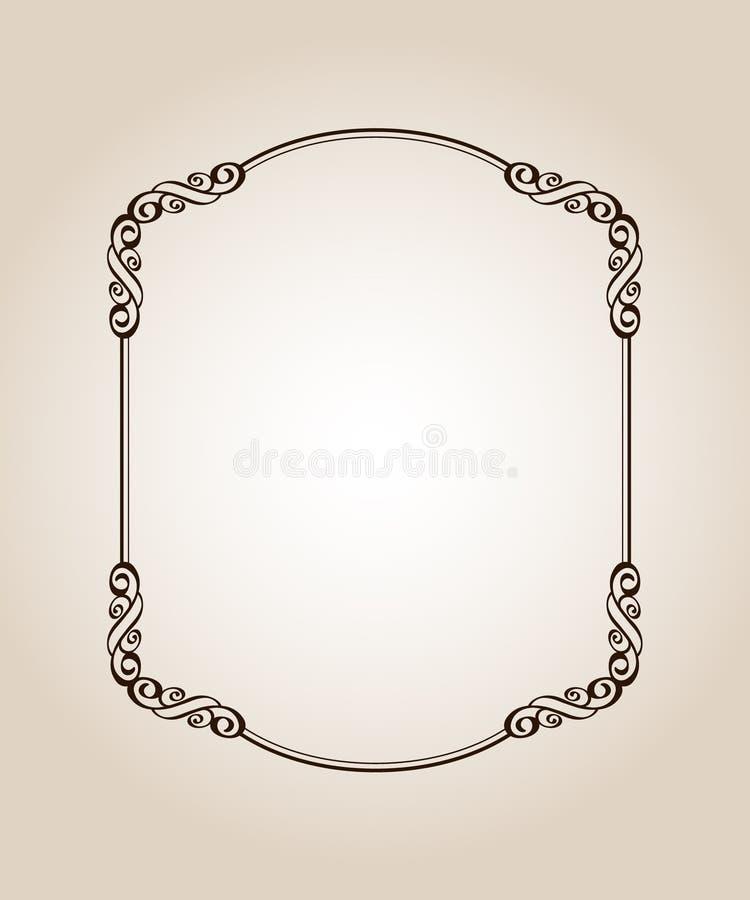 框架优美的古董 向量 也corel凹道例证向量 browne 向量例证