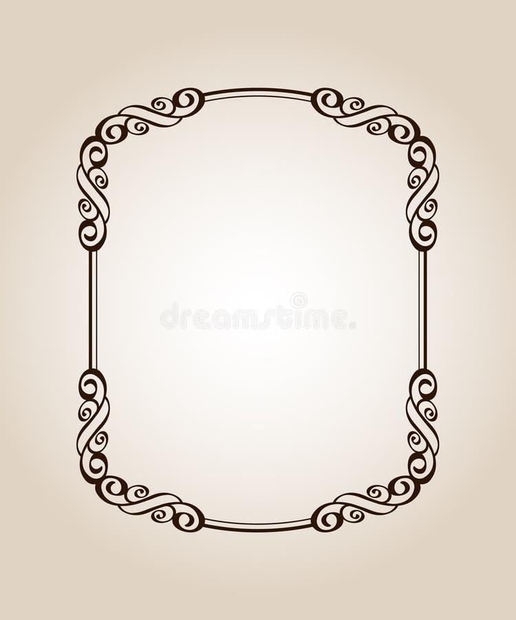 框架优美的古董 向量 也corel凹道例证向量 browne 皇族释放例证