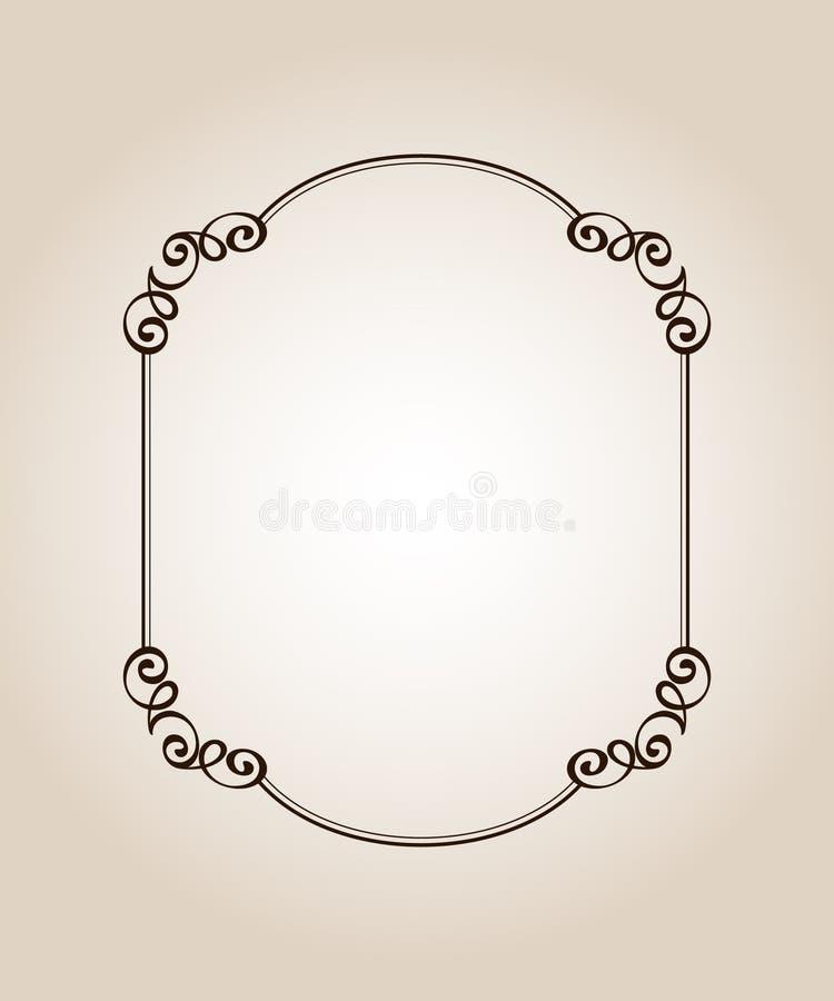 框架优美的古董 向量 也corel凹道例证向量 browne 库存例证