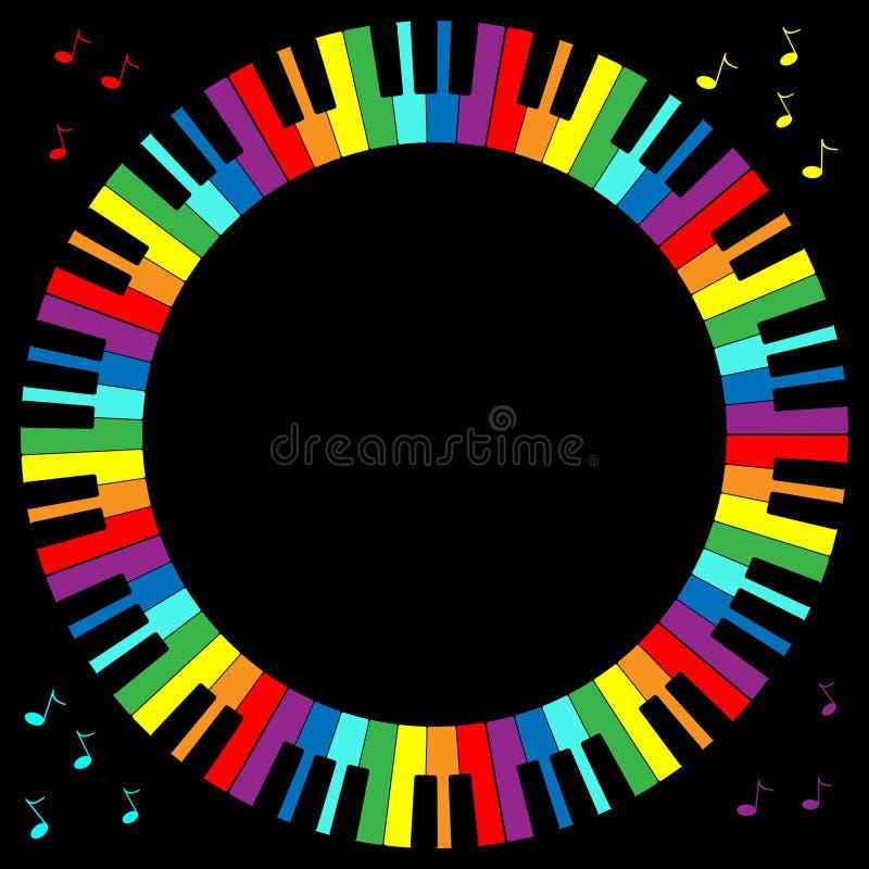 框架关键董事会钢琴 库存例证
