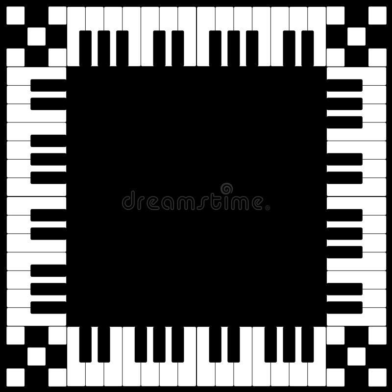 框架关键董事会钢琴 皇族释放例证