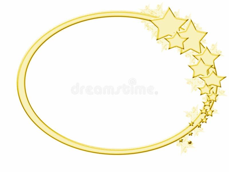 框架冷漠金的星形 向量例证