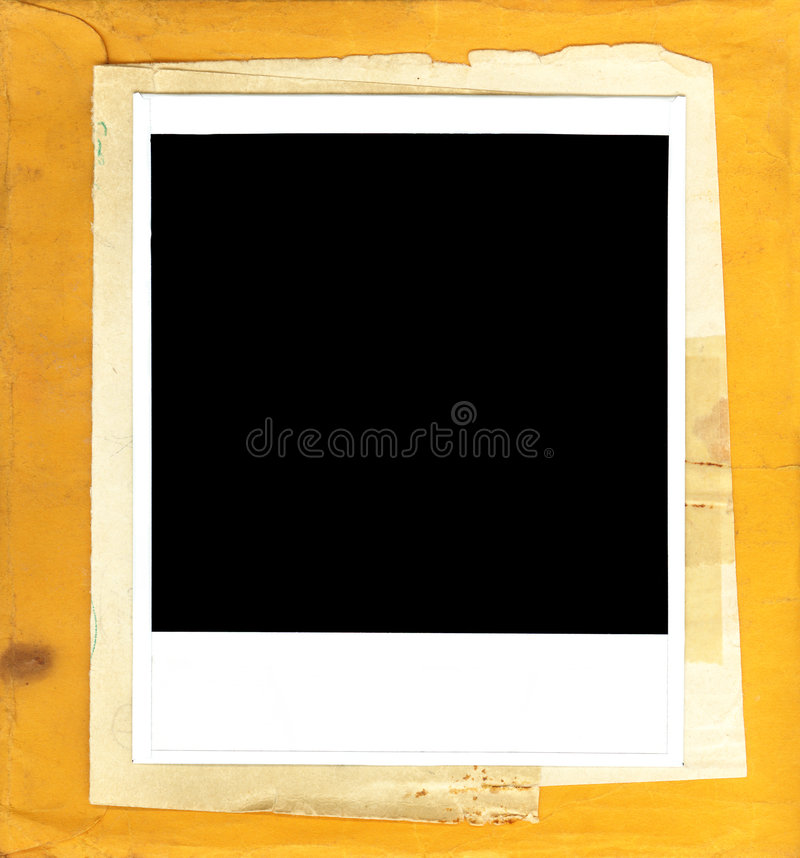 框架即时纸照片葡萄酒 免版税库存照片
