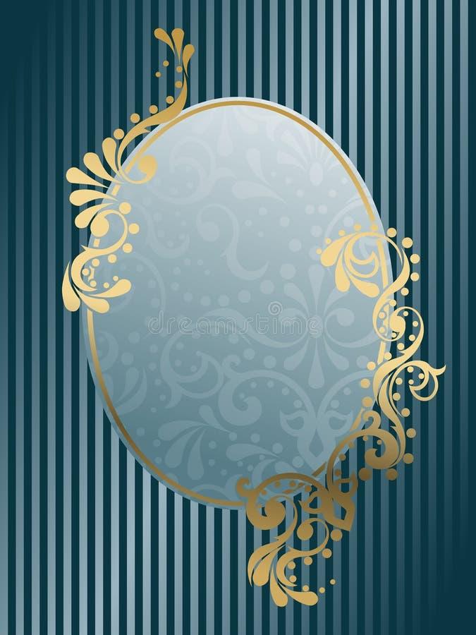 框架卵形维多利亚女王时代的葡萄酒 库存例证