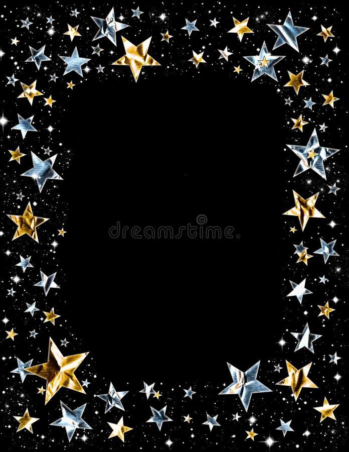 框架发光的星形 向量例证