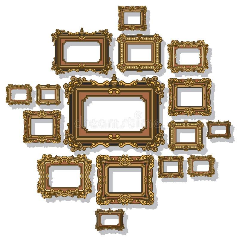 框架古色古香的传染媒介 图库摄影