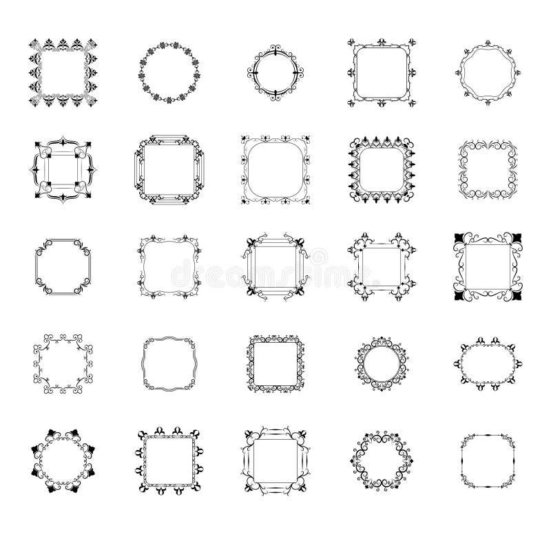 框架和组合图案排行传染媒介组装 库存例证