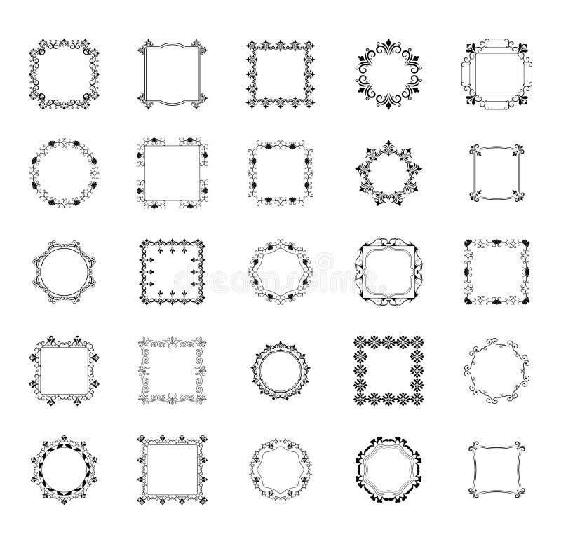 框架和组合图案排行象包装 向量例证
