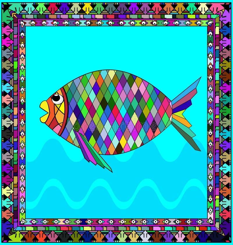 框架和鱼 皇族释放例证