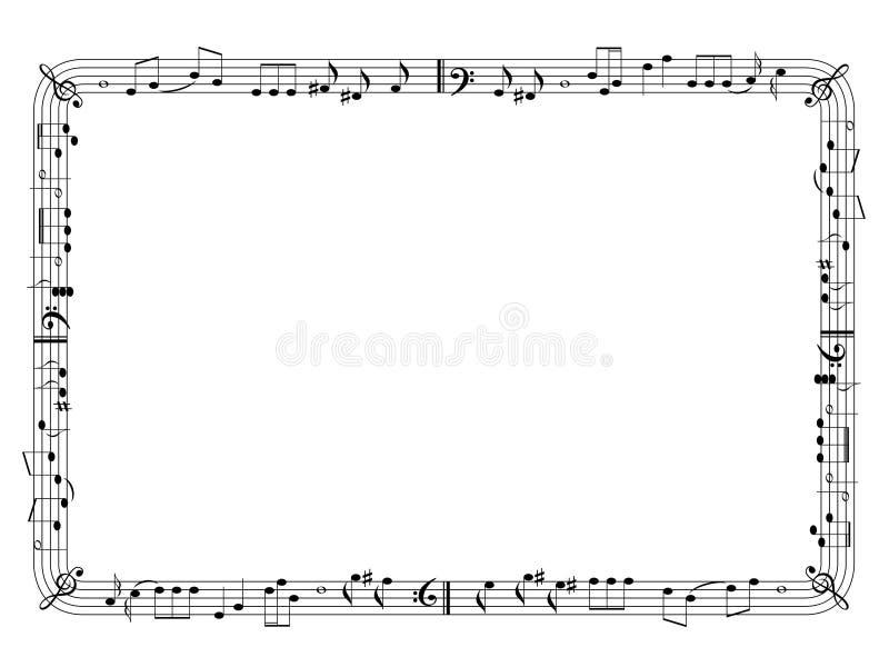 框架图形式音乐 皇族释放例证