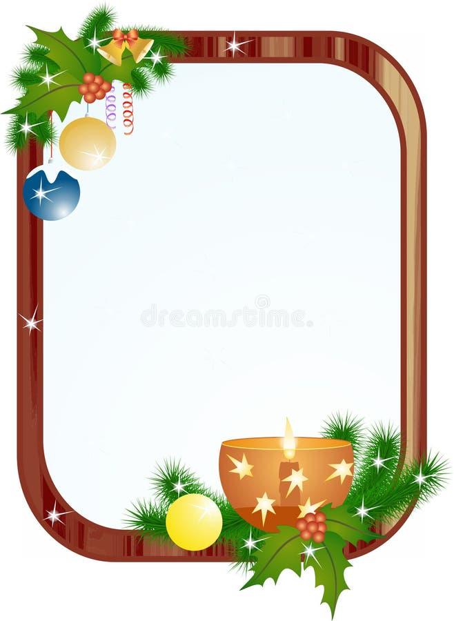 框架圣诞节和新年 库存照片
