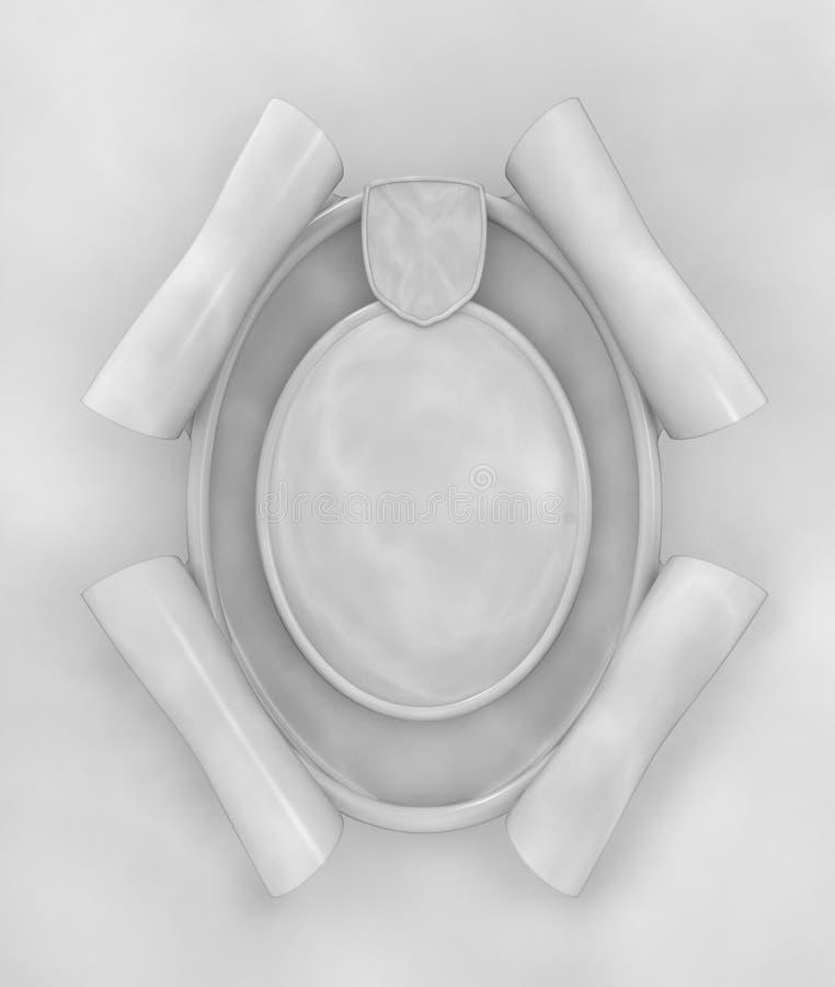 框架大理石卵形墙壁 向量例证