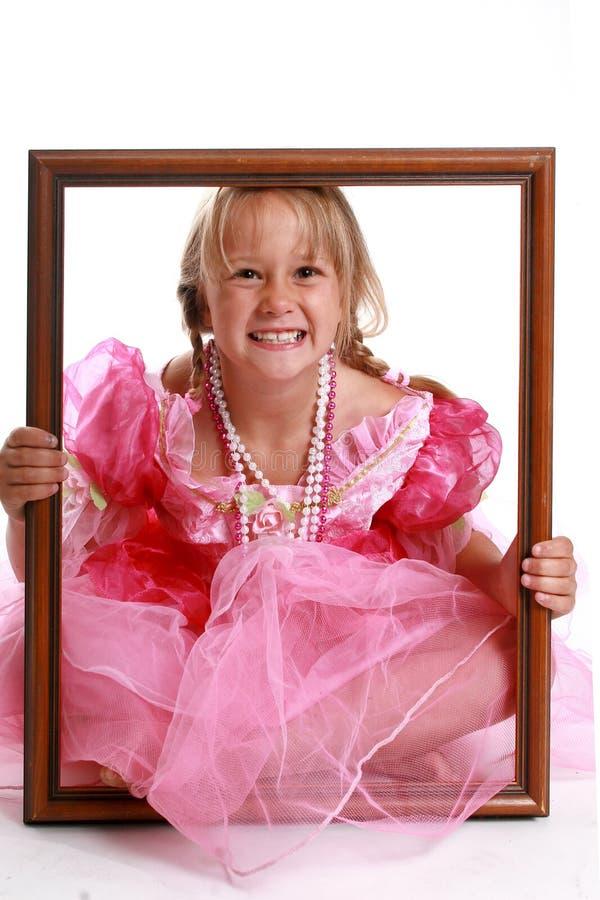 框架女孩照片 免版税图库摄影