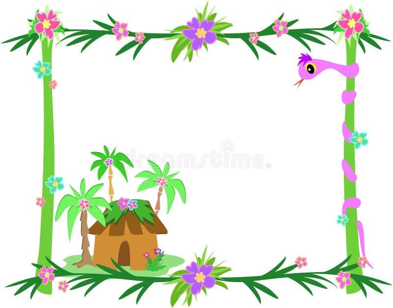 框架小屋种植热带的蛇 皇族释放例证