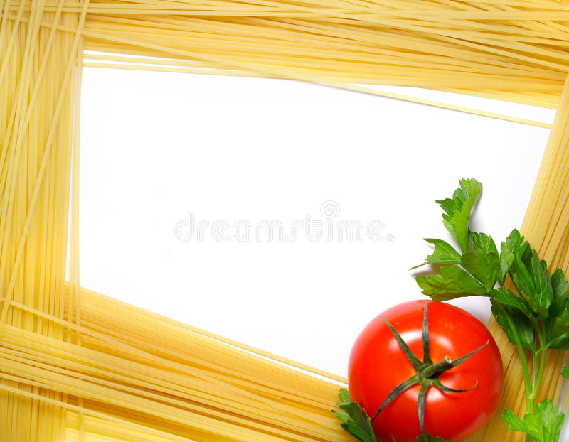 框架意大利面食 库存照片