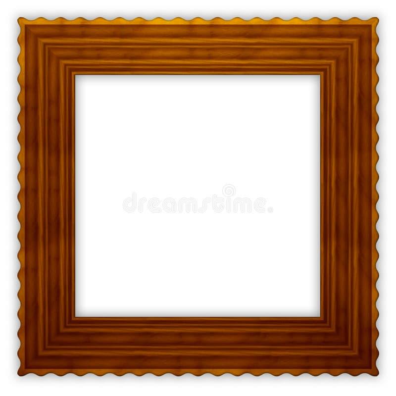 框架方形波浪木 免版税库存图片