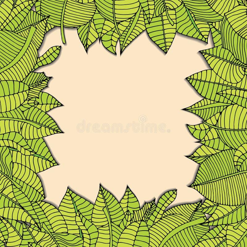 框架构成叶子本质系列 向量例证