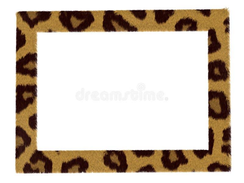 框架查出豹子时髦模式的照片 向量例证