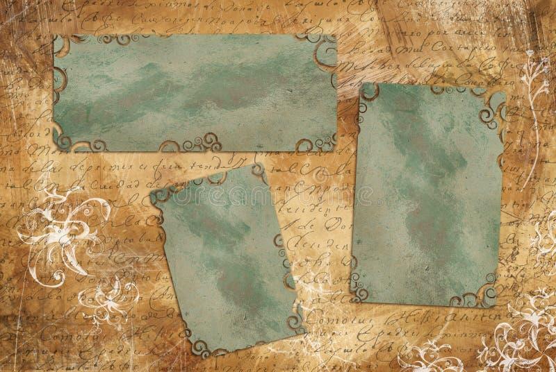 框架样式葡萄酒 皇族释放例证