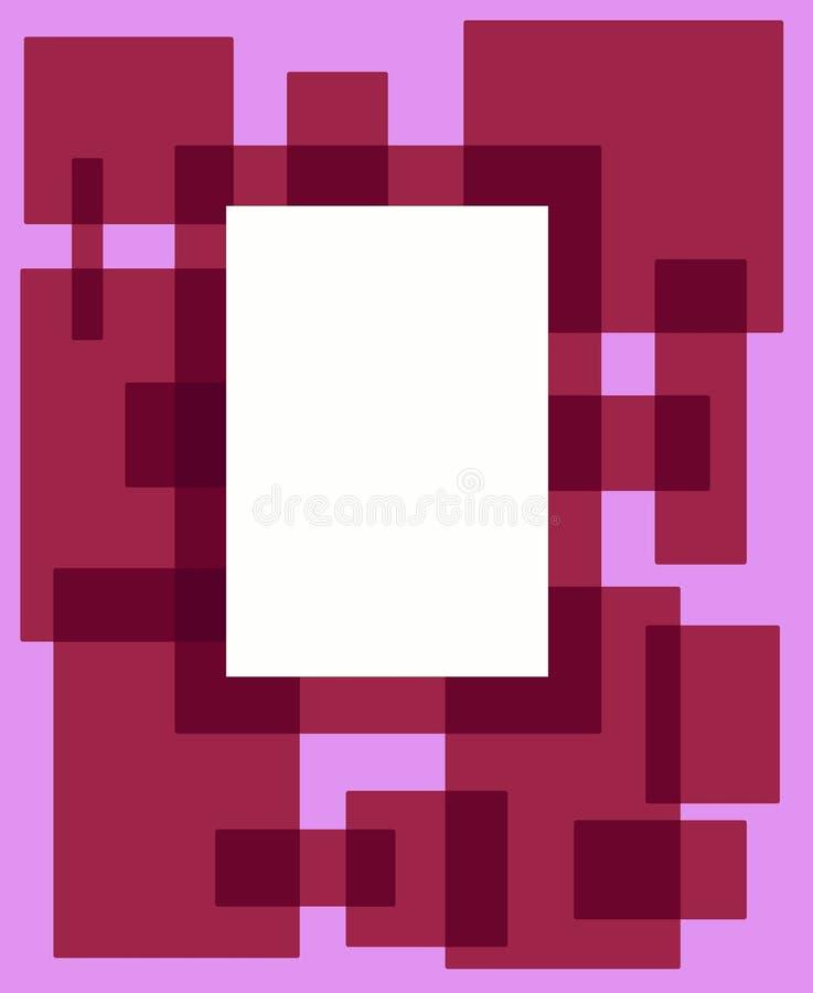 框架桃红色长方形红色 免版税库存照片